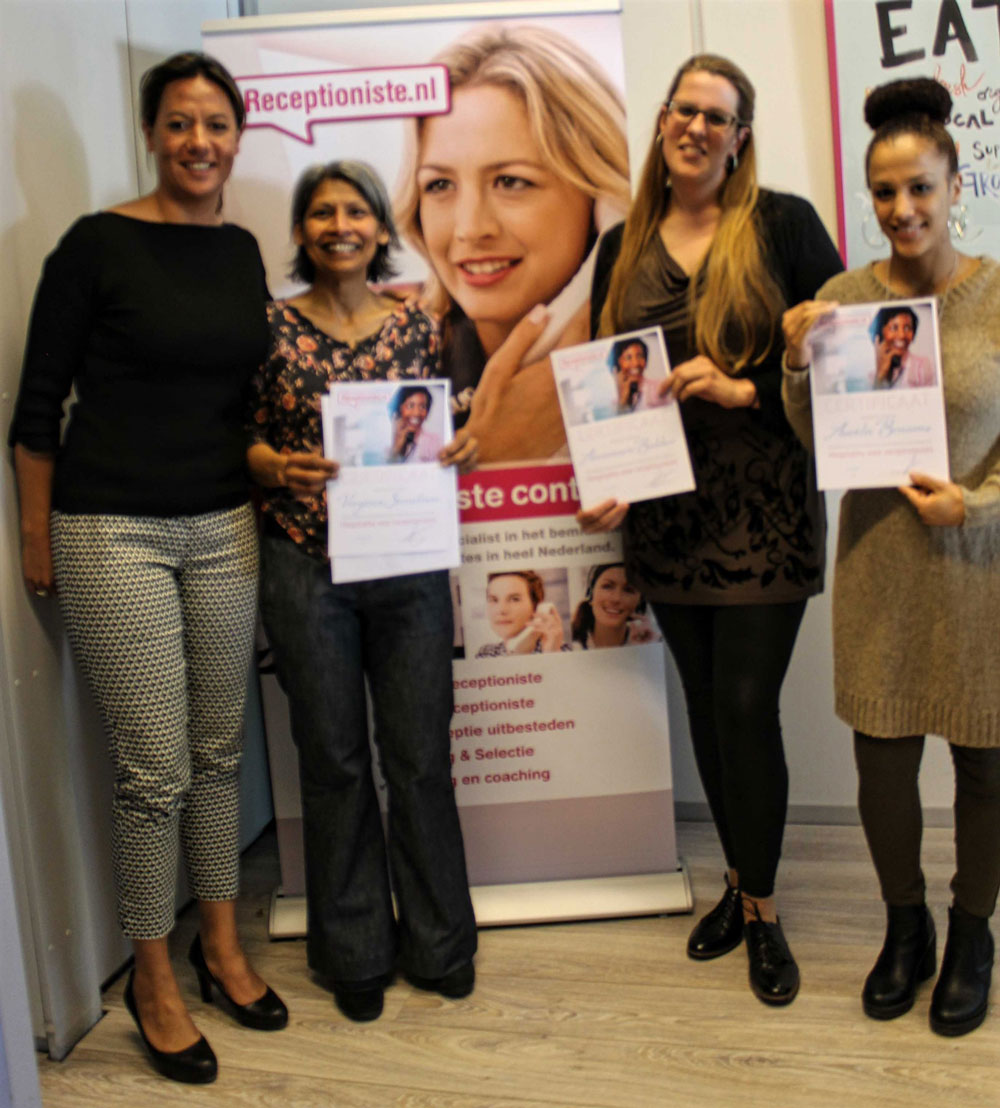 Training hospitality voor receptionistes succesvol